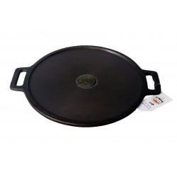 Qualy Investo Cast Iron Pre-Seasoned 12 Inch Dosa Tawa suitable for Gas, Induction and Electric Cooktops